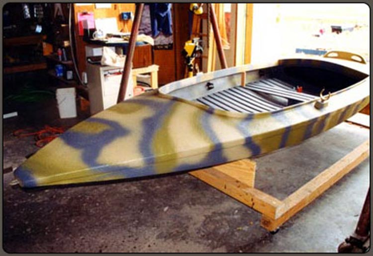 Spray on Liner for Kayak - Custom color & graphics