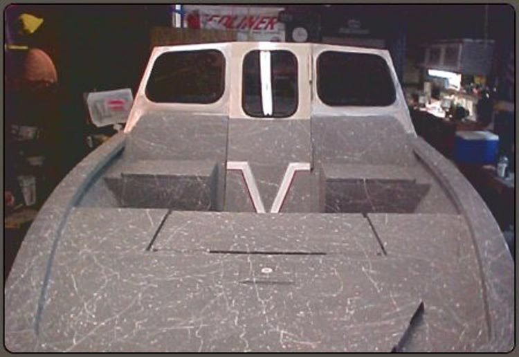 Spray in Boat Liner - Custom Gray with Graphics