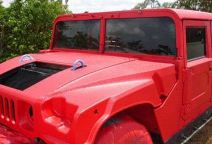 Exterior Vehicle Application in Red
