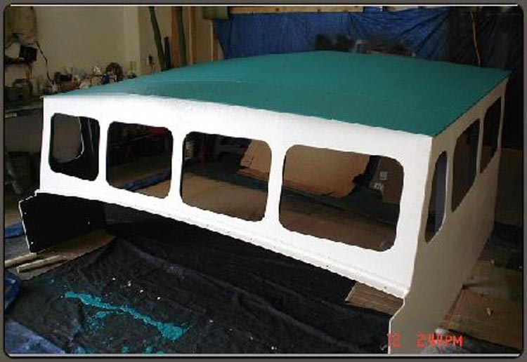 Spray on Liner for Boat Cabin Roof