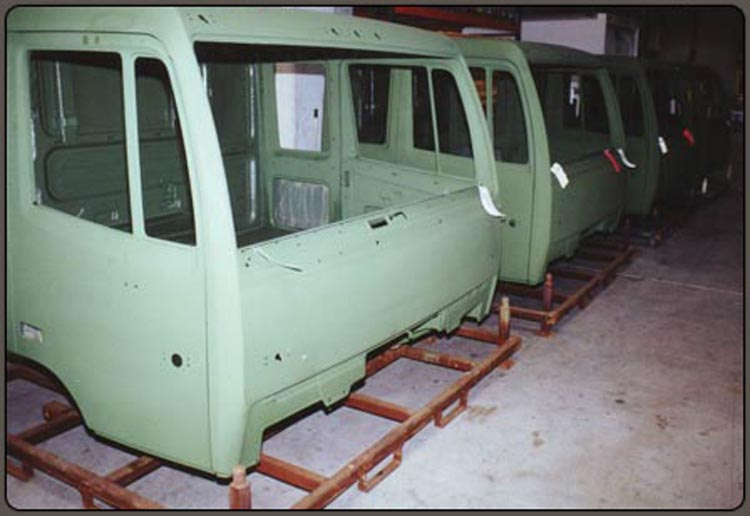 Camo Green Speedliner Spray on Liner on Military Cab