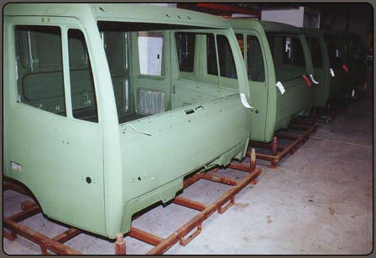 Camo Green Speedliner Spray on Liner on Military Cab