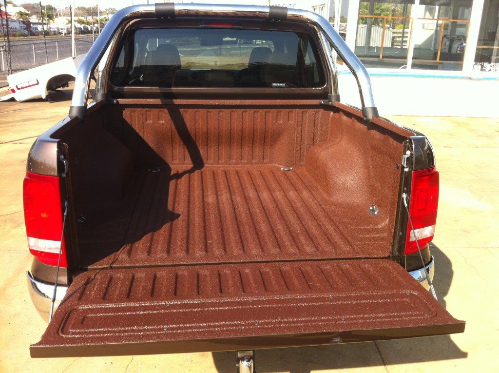 Speedliner® Spray In Bed Liner for Trucks in Custom Brown