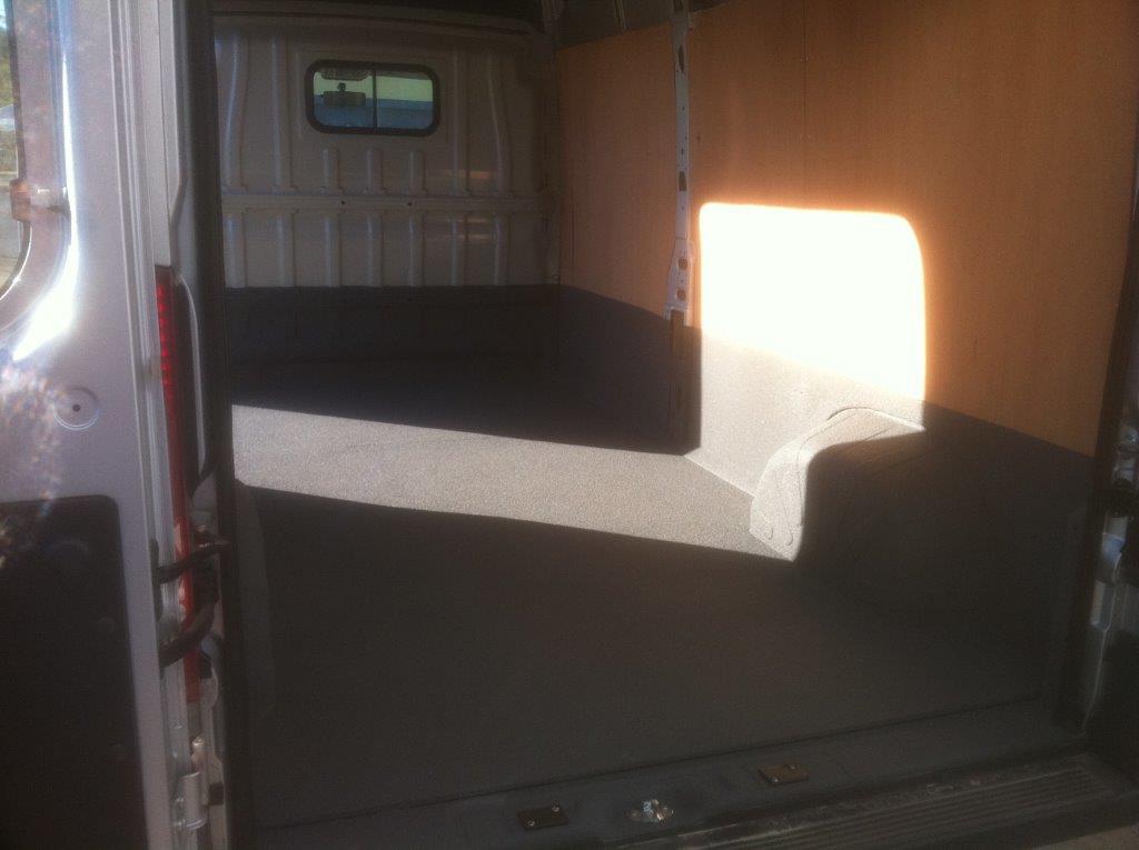 Interior of Utility Van - Non-Slip surface