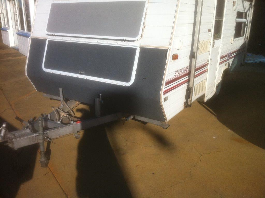 Protection from Debris & Sand on Nose of Bumper Pull Trailer
