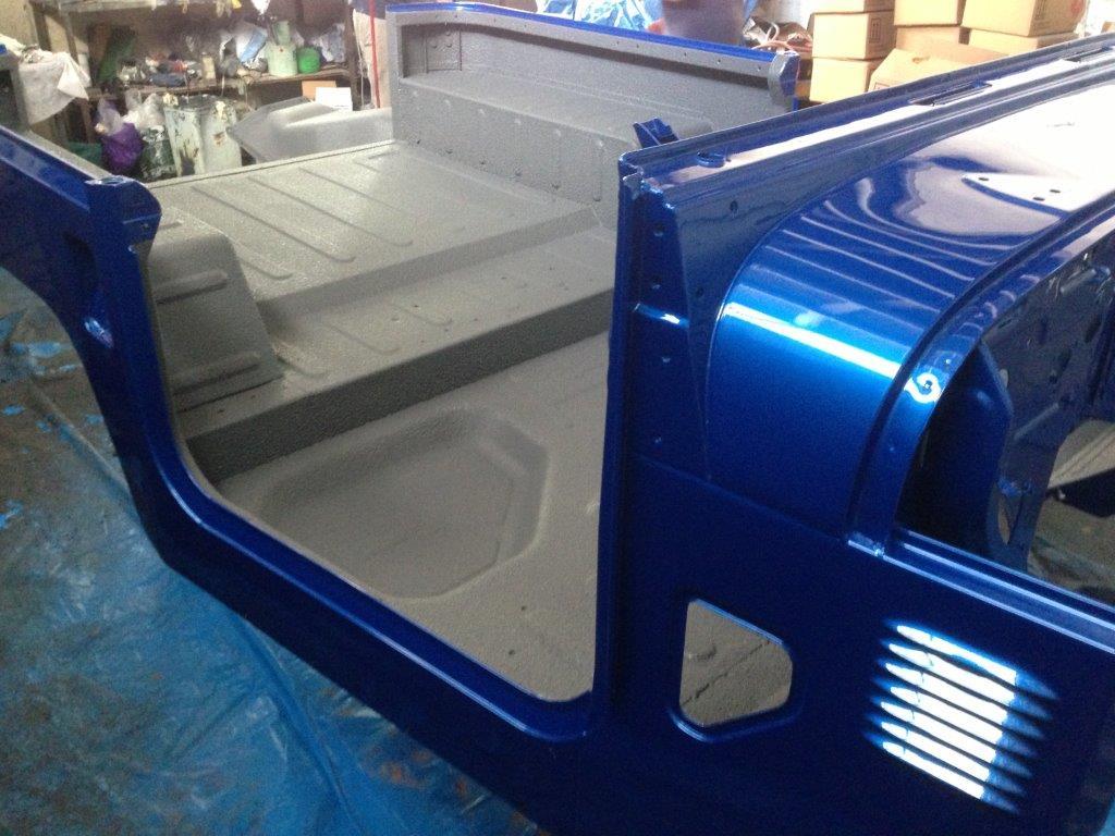 Interior Cab Coverage with Speedliner Spray in Liner