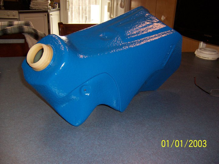 Motorcycle Gas Tank coated with Speedliner Spray on Liner